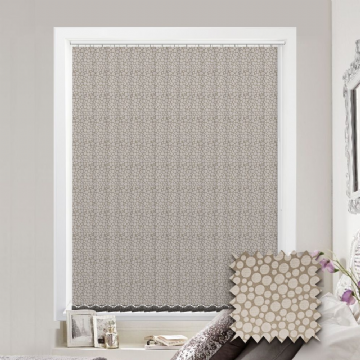 Made to Measure Polka Gold Vertical Blind